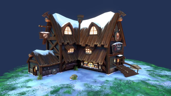 The Dragon's Perch' Tavern 3D Model