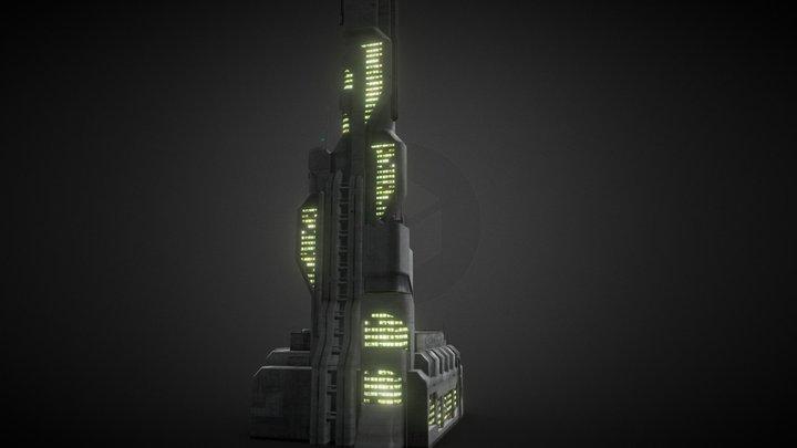 Greeble City Block038 3D Model