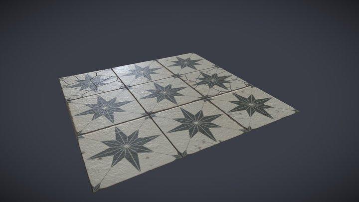 Star Tile Floor 3D Model
