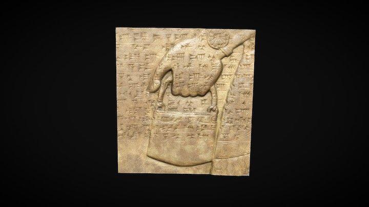 High Resolution Detail Assyrian Genie Bas Relief 3D Model