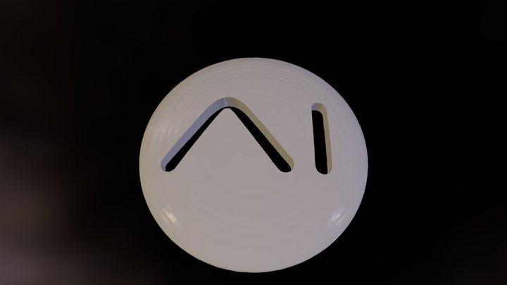 A I Logo V01 3D Model