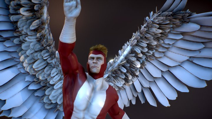 Angel from X-men 3D Model