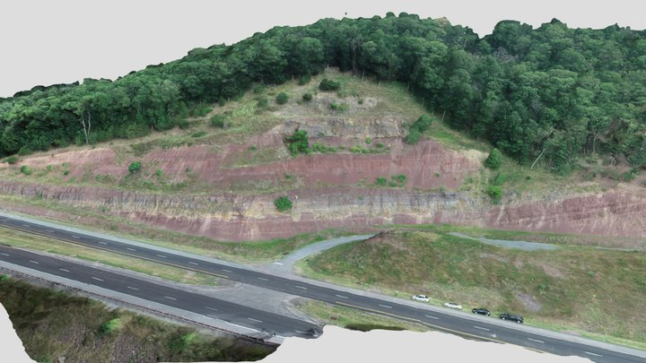 Hampshire Formation - Corridor H WVa 3D Model