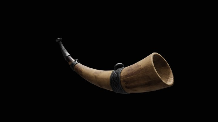Viking Warhorn 3D Model