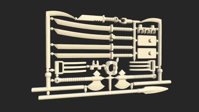 ModiBot Martial Arsenal Weapon Frame 3D Model