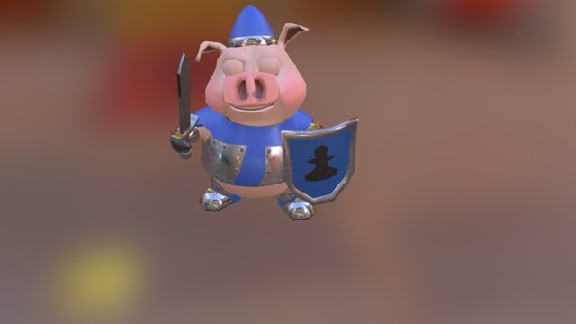 Pawn stand animation 3D Model