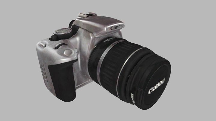 Canon 350D DSLR 3D Model