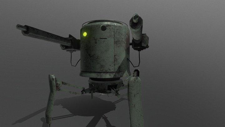 (WW1) Light Mech 3D Model