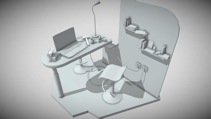 10 Draft Items 3D Model