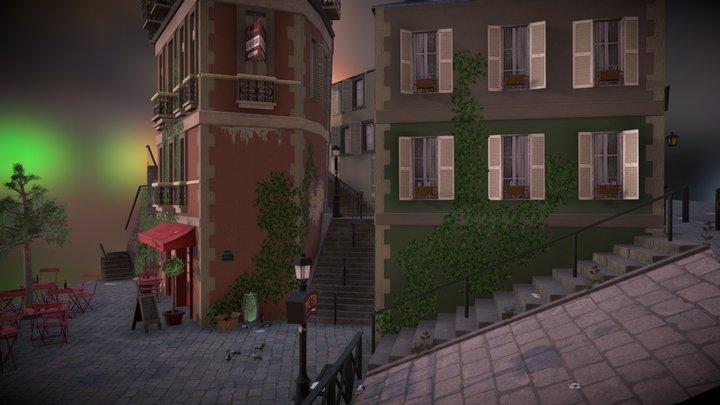 Cityscene Montmartre 3D Model