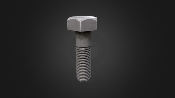 Nut Bolt 3D Model