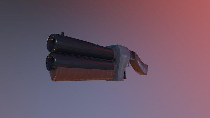 A Gun 3D Model