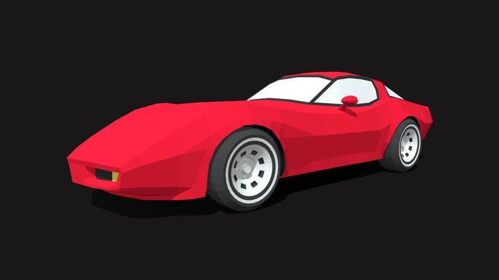 Chevrolet Corvette 1980 3D Model