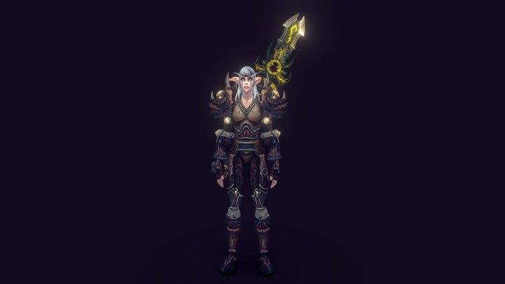 Night Elf Druid - World of Warcraft 3D Model