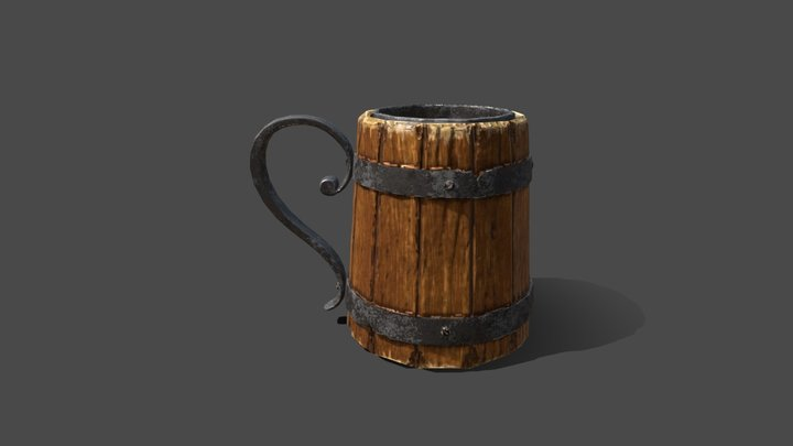 Tavern Cup Low Poly 3D Model