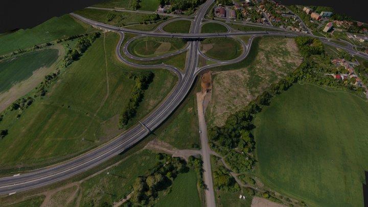 New highway crossing - near Chomutov (CZE) 3D Model