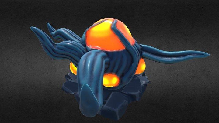 unidentified Alien Eggplant 3D Model