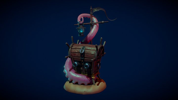 marine treasure chest (xyz school diploma work) 3D Model
