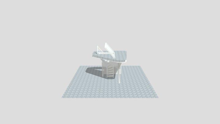 L-trappa 3D Model
