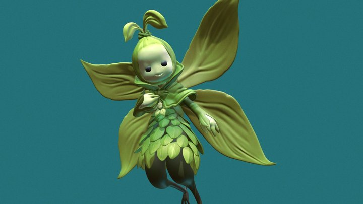 Cabbage Fairy 3D Model