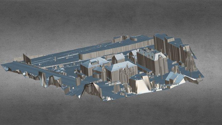 construction area zürich 2019 3D Model