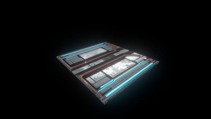 SciFi Panel V1 3D Model