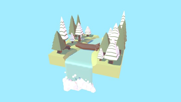Low Poly Forest 3D Model