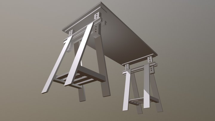 My Desk, Raised 3D Model