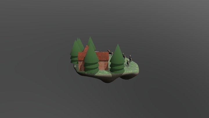 Floating Stable Island Version 3 3D Model