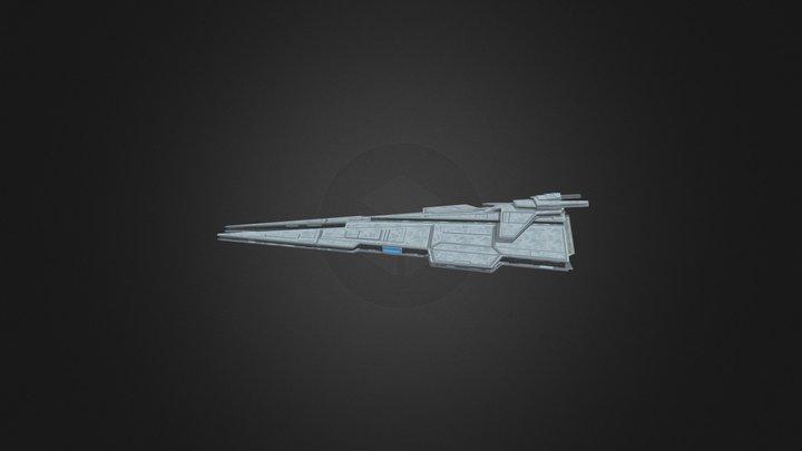 Harrower Class Dreadnought 3D Model