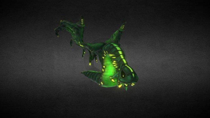 Dragon Monster Green 3D Model