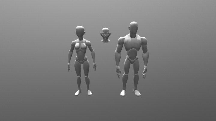 Free Stylized Basemesh for Blender Sculpting 3D Model