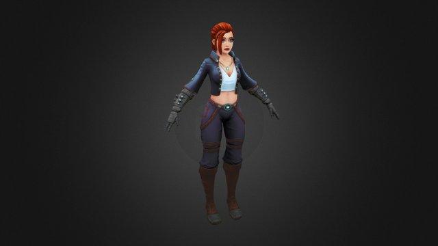Steel girl 3D Model