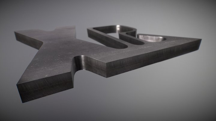 Échantillon de coupe sur acier inoxydable 3D Model
