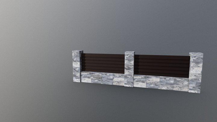 Styrobud Fini™ - ogrodzenie gładkie 3D Model