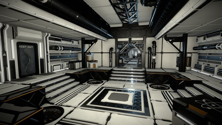 Sci Fi Modular Asset Pack 3D Model