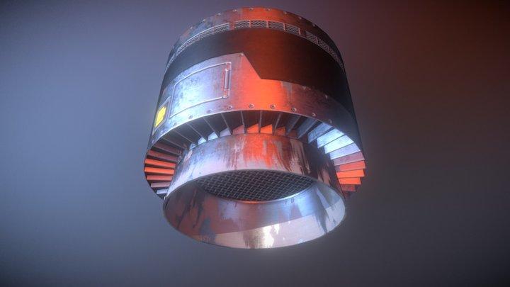 High Tech Space Grill/Skillet Range Vent 3D Model