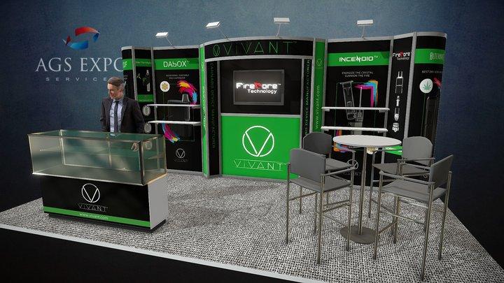 TPE 2018 - VIVANT 20x10 Booth 3D Model