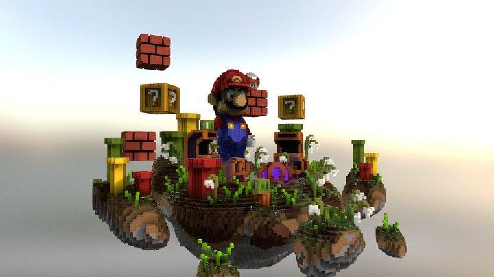 Mario LobbyHub 3D Model