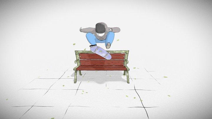Henry Jones' Kickflip Dude 3D Model