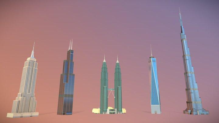 Groundbreaking Skyscrapers 3D Model