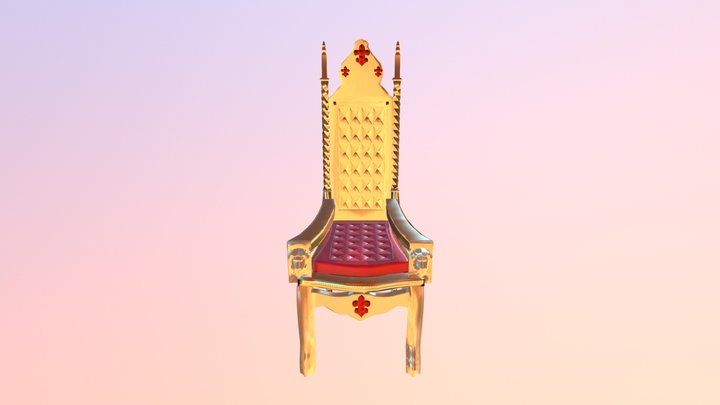Unit 69 - College Project - Throne 3D Model