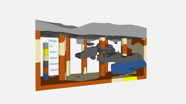 Volcanic Lithology 3D Model
