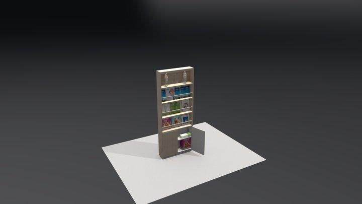 Bokhylla L 3D Model