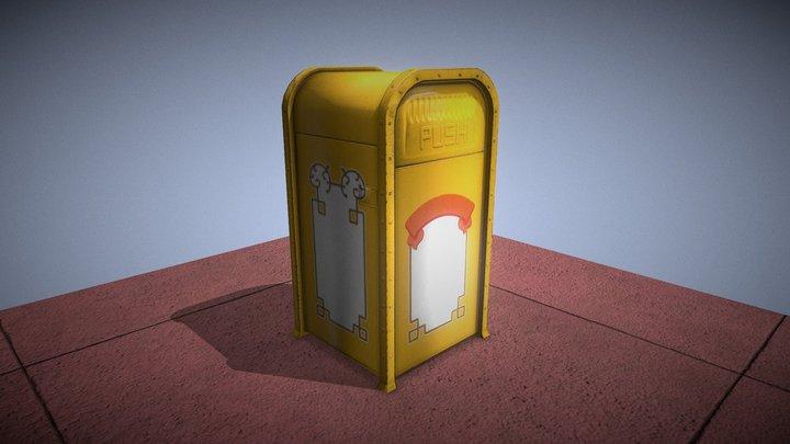 Magic Kingdom Entrance Trash Can 3D Model