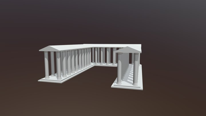 Greek Structure 3D Model