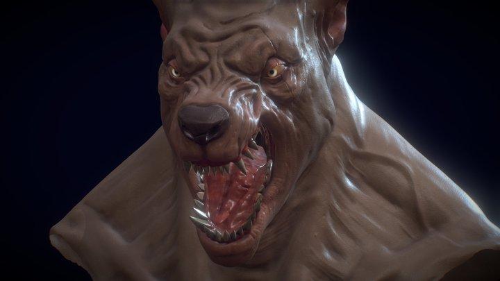 Werewolf bust 3D Model