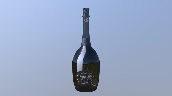 Bottle of champagne 3D Model