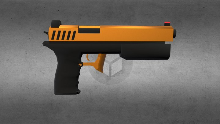 """Gold Digger"" - BelTECH II (Custom) Pistol 3D Model"