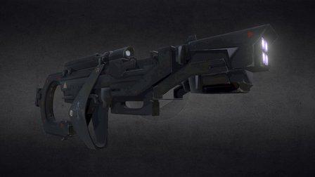 Rockets Gun 3D Model